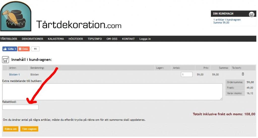 Tårtdekoration.com Rabattkod