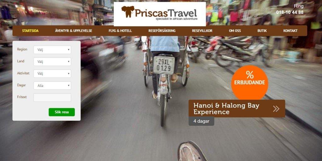 Priscas Travel Rabattkod
