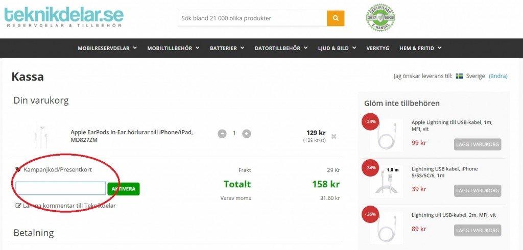 c85a5bae6253 Rabattkod hos Teknikdelar.se - Mars 2019 - Kampanj.com