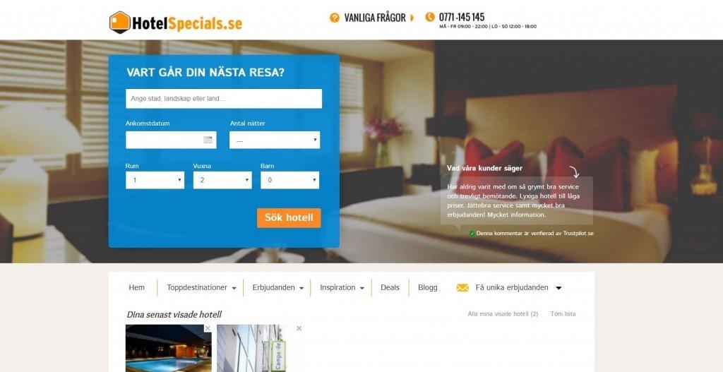 HotelSpecials Rabattkod
