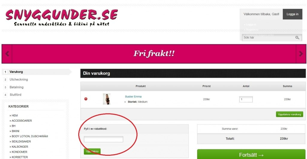 SnyggUnder.se Rabattkod